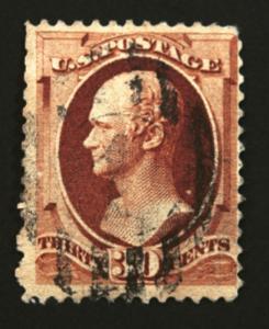 #217 30c Orange Brown 1888  VF Used CV $120+