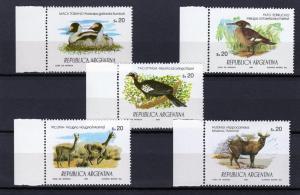 Argentina 1984 Wildlife Birds set (5) Perforated mnh.vf