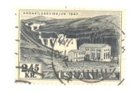 Iceland Sc 294 1956 2.45 kr Hydro Plant stamp used