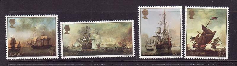 Jersey MNH 116-9 Ship Paintings 1974