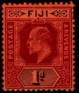 FIJI SG116, 1d purple & black/red, M MINT. Cat £35.