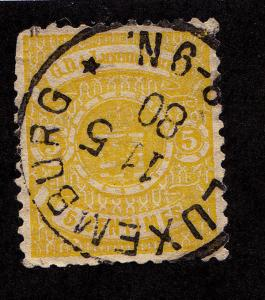 LUXEMBOURG Used Scott # 32 - Perf 13 (1 Stamp)