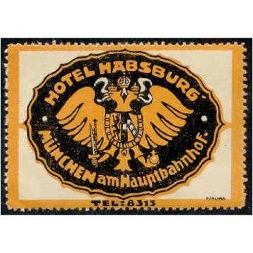 Germany - Hotel Habsburg Advertising Poster Stamp