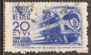 MEXICO Q8, 20¢ 1950 Definitive 1ST Printing wmk 279 USED. VF. (1056)