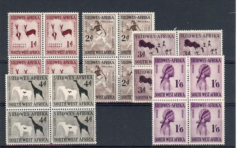 South West Africa, 261-65,Various Designs Blocks (4),**MNH**