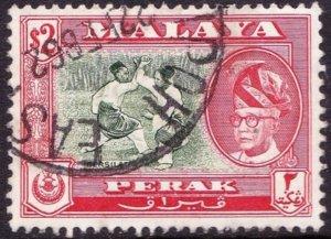 MALAYA KEDAH 1961 $2 Bronze-Green & Scarlet SG160a FU