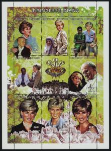 Togo 1854 MNH Princess Diana, Pope John Paul II, Flowers, Mother Teresa
