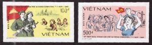 United Viet Nam Scott 1932-1933 imperforate  NGAI  stamp set