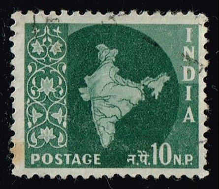India #308 Map of India; Used (0.25)