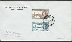 BAHAMAS 1947 cover ex COLONEL HILL.........................................49111