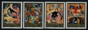 Yugoslavia 2541-4 MNH Christmas, Paintings of the Birth of Christ