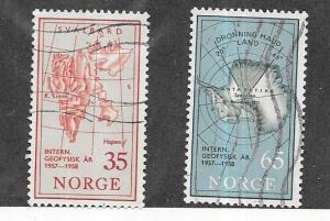 Norway #414-415   Europa set  (U)   CV $2.25