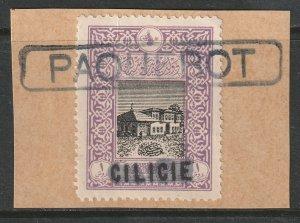 Cilicia 1919 Sc 11 used Paquebot ship cancel on piece