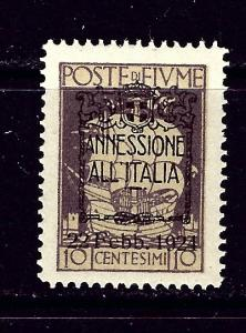 Fiume 197 MNH 1924 overprint issue