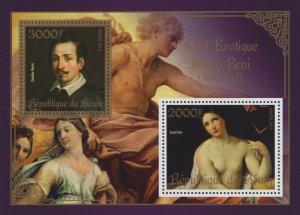Erotic Art Paintings Guido Reni Souvenir Sheet of 2 Stamps Mint NH
