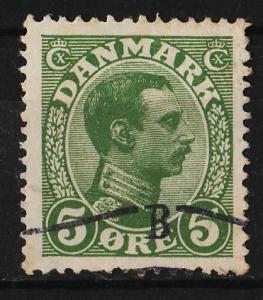 Denmark 1913 King Christian X 5o (1/35) USED