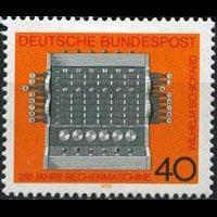 GERMANY 1973 - Scott# 1123 Calculator Set of 1 NH