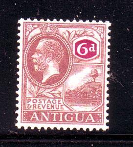 Antigua Sc 52 1921 6d violet & red violet G V & Harbour stamp mint