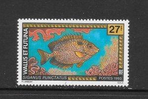 FISH - WALLIS & FUTUNA #432  GOLD SPOTTED RABBITFISH   MNH
