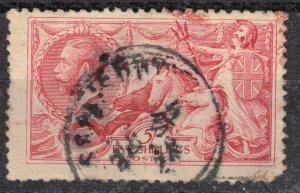 GREAT BRITAIN - KGV Sea Horses 5 Shillings