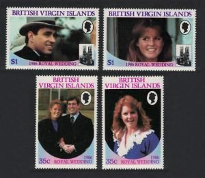 BVI Royal Wedding Prince Andrew 4v SG#605-608