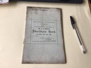 The Field Ellesmere Mr E. K. Bickley's Shorthorn Herd 1900  Sale Ref  53899