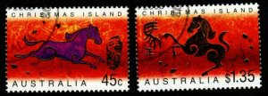 CHRISTMAS ISLAND SG504/5 2002 CHINESE NEW YEAR FINE USED