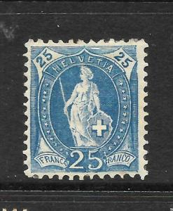 SWITZERLAND 1882-03  25c  HELVETIA    MLH    SG 156a