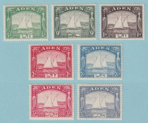 ADEN 1 - 7  MINT HINGED OG * NO FAULTS VERY FINE! - X413