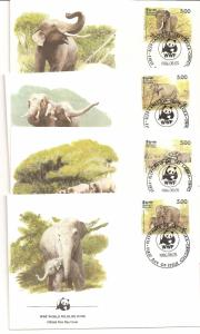 Sri Lanka  SC 803a-d First Day Covers