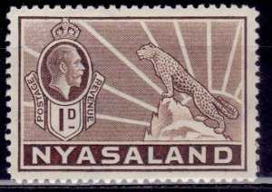 Nyasaland 1934, George V and Leopard, 1d, sc#39, MH