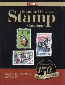 2018 Scott Standard Postage Stamp Catalogue - Volume 4A & 4B
