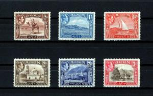 ADEN - 1939/46 - KG VI - CAMEL - HARBOR - DHOW - MUKALLA + 6 X MINT MNH SINGLES!