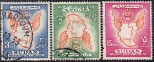 Sudan #118-120    Used Set