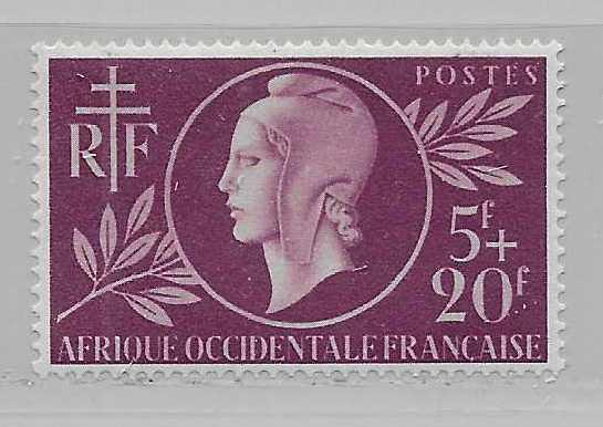 French West Africa B1 Red Cross single MLH