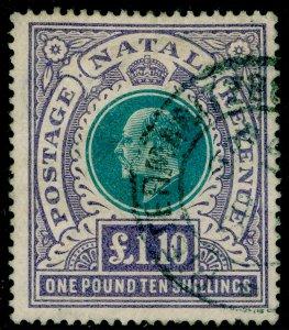 SOUTH AFRICA - Natal SG143, £1.10s grn & violet, FINE USED. Cat £130.