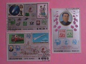 KOREA STAMP: 1986-SC#2596-8  40TH ANNIV: OF KOREA POSTAGE STAMPS: CTO  NH SET.