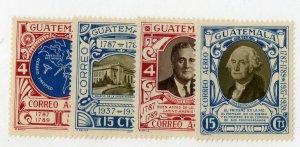 GUATEMALA C92a-d MNH SCV $8.00 BIN $4.00
