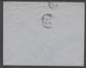 Sierra Leone Sc 177/181 on 1946 Air Mail Cover to Scotland
