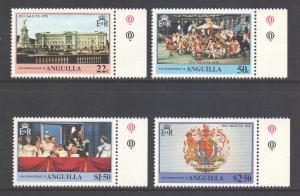 Anguilla Scott 315/318 - SG320/323, 1978 Coronation Anniversary Set MNH**