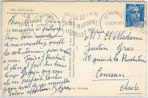 CINEMA ---  FRANCE -  POSTAL HISTORY -  SPECIAL postmark on POSTCARD 1931