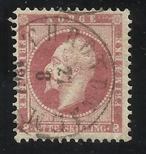 Norway 5  8sk Used F/VF Centering