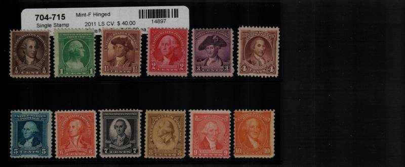 US 704-715 MH Single Set