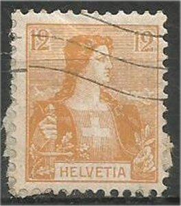 SWITZERLAND, 1907, used 12c, Helvetia Scott 130