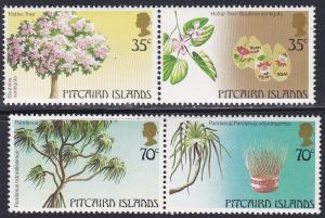 Pitcairn Isl # 229-230, Local Trees, NH, Half Cat.