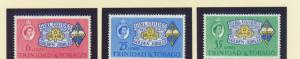 Trinidad and Tobago Scott #113 To 115, Girl Guides Issue From 1964 - Free U.S...