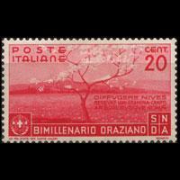 ITALY 1936 - Scott# 360 Poet Horace 20c LH