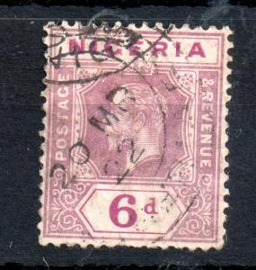 Nigeria KGV 6d dull & bright purple SG25 Die II good used WS13343