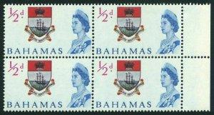 Bahamas 204 block/4, MNH. Michel 209. 1965. Colony badge.