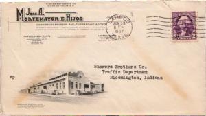 United States Texas Laredo 1937 machine  Illustrated Advertising Jose A. Mont...